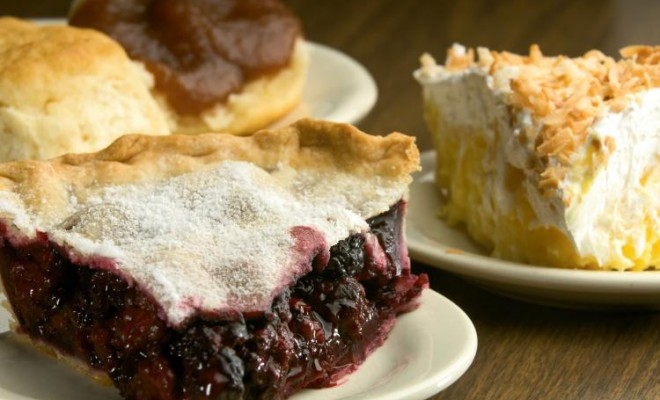 The Dutch Kitchen in Arcola serves breakfast, lunch and dinner. They are well-known for their homemade pies and bread with Amish-made apple butter.