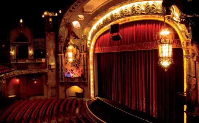 The Coronado Theater in Rockford, Illinois, was originally built in 1928 and fully restored in 2001.
