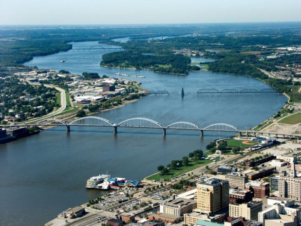 Mississippi River in Moline, Illinois