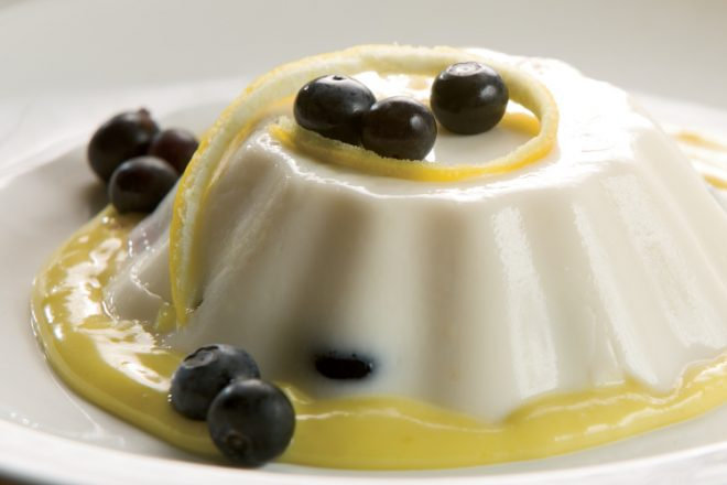 Blueberry Panna Cotta with Lemon Curd