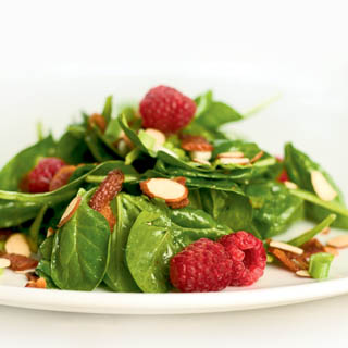 Spinach Salad with Rasberry Vinaigrette