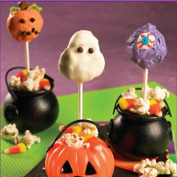 Halloween Popcorn Cake Pops