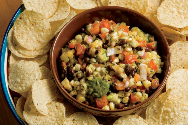 Grilled Corn, Black Bean and Avocado Salsa