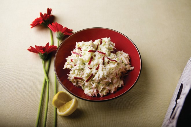 Cabbage and Apple Horseradish Slaw