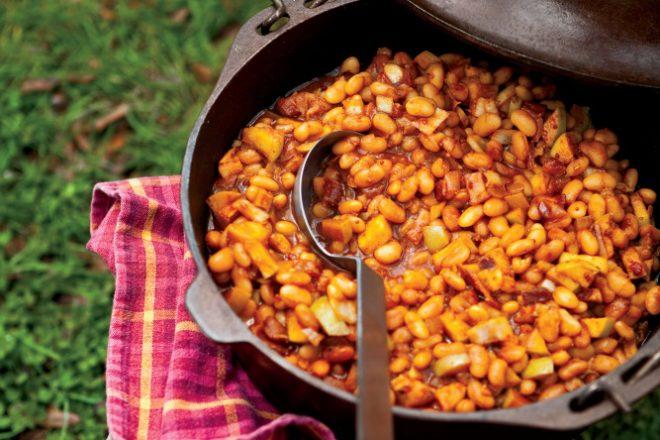 Maple Apple Baked Beans