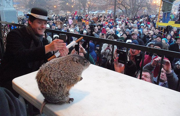Groundhog Days in Woodstock, Illinois