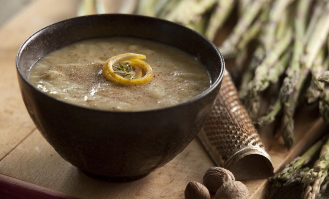 Lightened Up Cream of Asparagus Soup recipe