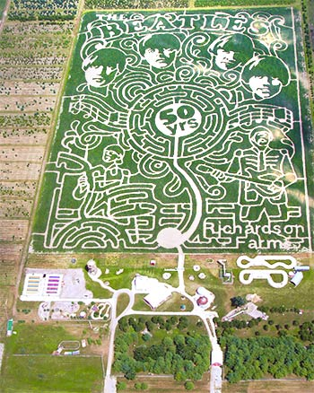 Richardson Corn Maze – Beatles