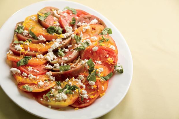 Fresh Ricotta Salad with Heirloom Tomatoes