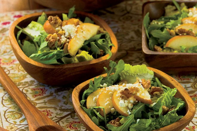 Walnut, Pear and Goat Cheese Salad