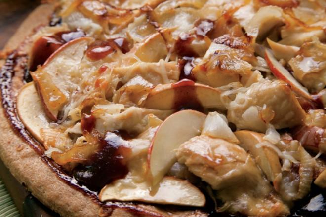 BBQ Chicken Apple Pizza