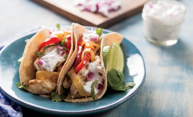 Horseradish Chicken Tacos