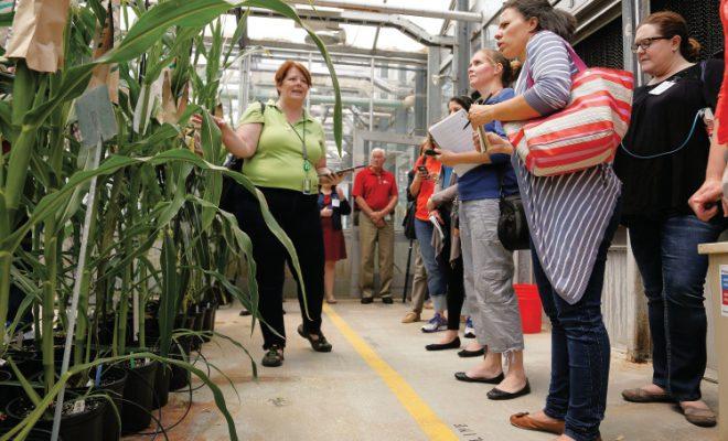 City Moms visit Monsanto