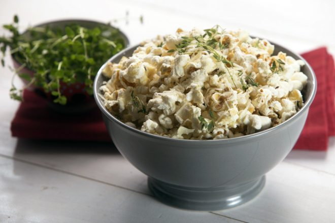 Parmesan and Thyme Popcorn