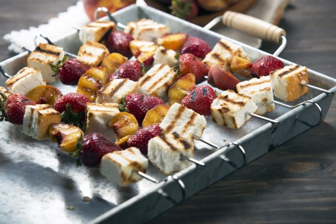 Grilled Angel Food Cake Kabobs