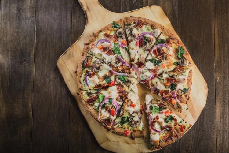 Turkey Bacon Ranch Pizza