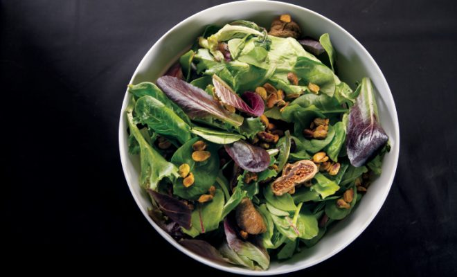 Mixed Green Salad with Figs